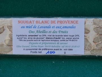 Nougat Blanc de Provence au miel de lavande